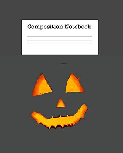 Composition Notebook: Halloween Half Blank Half Wide Ruled