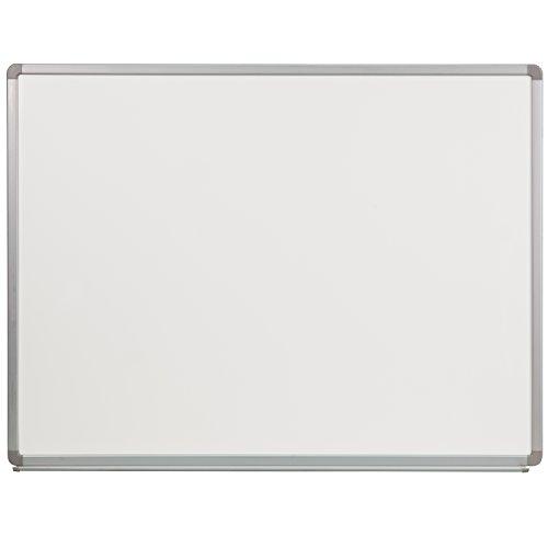 Whiteboard Porcelain Magnetic Steel (Flash Furniture 4' W x 3' H Porcelain Magnetic Marker Board)