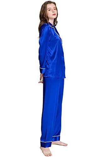 Womens Satin Silk Pajamas Top - Womens Silk Satin Pajamas Set Sleepwear Loungewear Invy 3XL