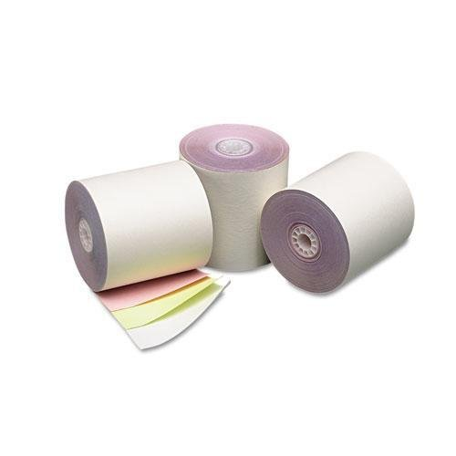 PM Company® - Three-Ply Cash Register/POS Rolls, 3'' x 70 ft., White/Canary/Pink, 50/Carton - Sold As 1 Carton - Premium quality, carbonless paper rolls are manufactured to OEM specifications. by PM Company