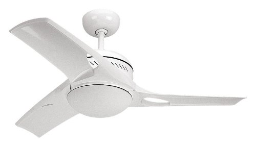 "38"" Match One 3 Blade Ceiling Fan with Wall Remote Finish: White"