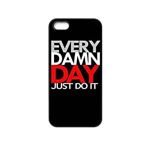 Every Damn Day Just Do It Pattern Plastic Hard Case for iPhone 5/5S by lolosakes