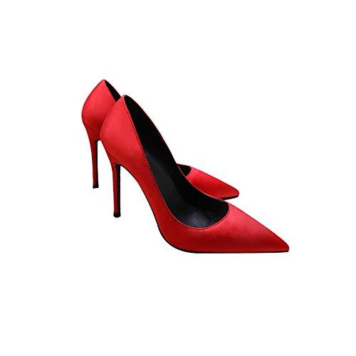Satin Royal Tacones Profesi with Blue Zapatos De Mujer WENJUN De Joker Tip Boda Sexy Fine Banquete Zapatos Altos Zapatos De Champagne ERwdwIq
