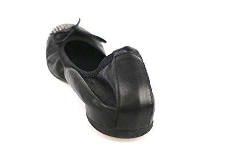 Cuero Crown AP943 Zapatos Negro Tachuelas 36 Bailarinas Mujer AP943 fpwqqA6