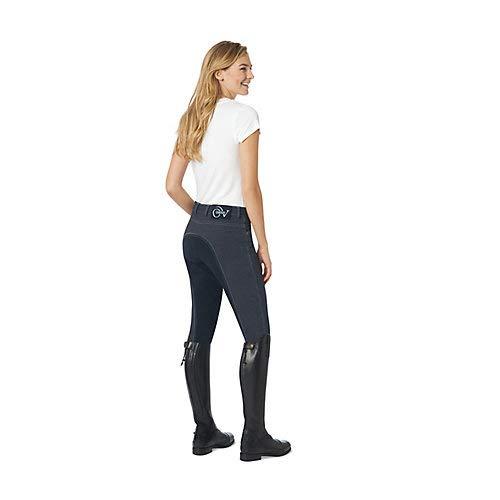 Knit Riding Pants - Ovation Euro Melange Full Seat Breech 34 Indigo