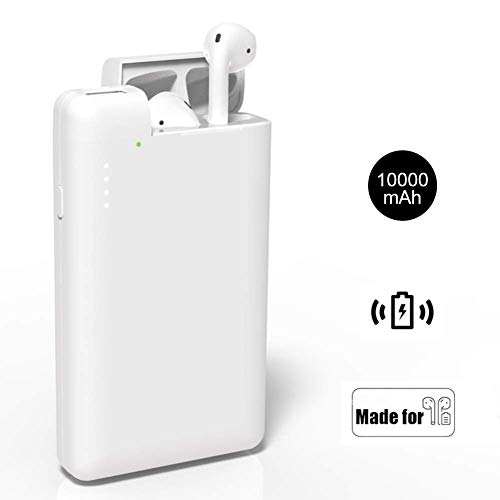 (NeotrixQI AirPods Charging Case Replacement Portable Charger, 10000mAh Power Bank Multi-Function External Battery Pack Compatible with Apple AirPods iPhone Xs/XR/X/8 Plus/8 Samsung Galaxy S10/9/S8)