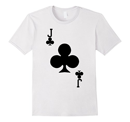 Mens Jack of Clubs - Playing Card Halloween Costume T-Shirt Large (Club Playing Card Costume)