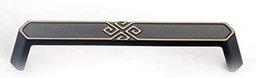 食器棚取っ手セット レトロな引き出しアンティーク素朴なキャビネットドアノブハンドルプル キャビネットのしノブドアハンドル (Color : Black, Size : M)