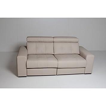 SHIITO Minimalista sofá de Tres plazas tapizado en Piel ¡8 ...