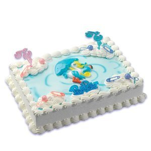 Baby Shower Boy Stork Cake Topper]()