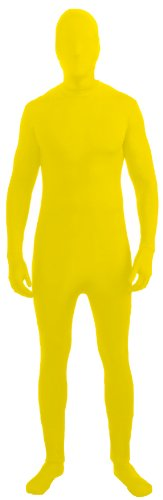 Yellow Skin Suit Child Costumes (Forum Novelties Men's Disappearing Man Solid Color Stretch Body Suit Costume, Yellow, Medium/Large)