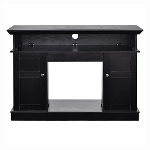 Cheap Black Wood 43 - inch TV Stand with Electric Fireplace Heater Black Wood 43-inch TV Stand with Electric Fireplace Heater Black Friday & Cyber Monday 2019
