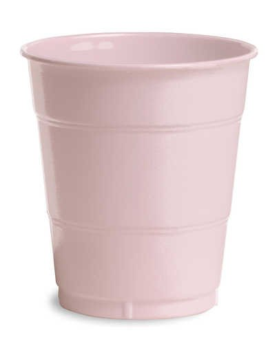 Classic Pink Plastic Cups 12oz Solid 240ct