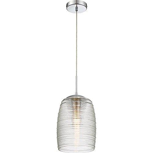 (Quoizel QPP2784C Rebound Spun Glass Mini Pendant Ceiling Lighting, 1-Light, 100 Watt, Polished Chrome (17