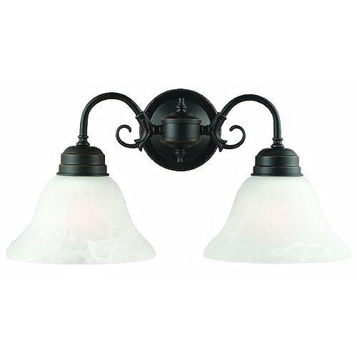 bronze bathroom light fixtures. Design House 514471 Millbridge 2 Light Wall Light, Oil Rubbed Bronze Bathroom Fixtures O