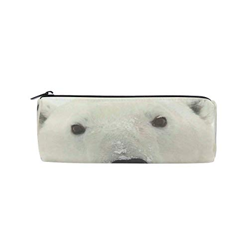 Pencil Pouch Bear Face Pen Case Zipit Cute School Makeup Bag Organizer Holder ()