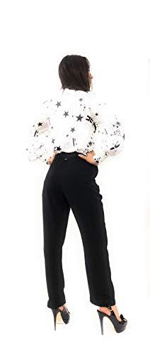 E 16 40 Franchi Camicia Anni Elisabetta Donna Taglia Nera Bianca pFtxaq