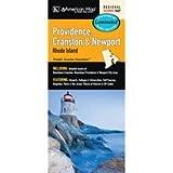 Providence, Cranston, and Newport Rhode Island Laminated Map