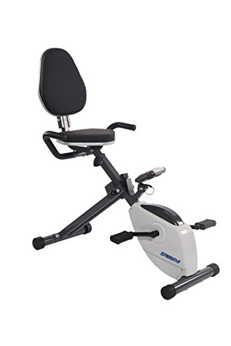 Stamina Magnetic Resistance Folding Recumbent Exercise Bike ()