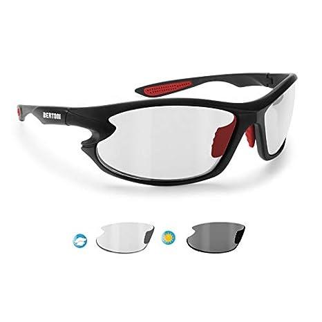 Gafas de Sol Deportivas Polarizadas Fotocromaticas para Deporte Ciclismo Moto Pesca Esqui Golf Running - 676 para Hombre y Mujer by Bertoni (Negro - rojo ...