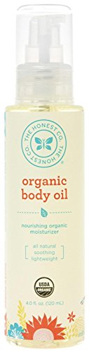 Honest Organic Body Oil, 4 Ounce