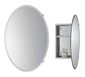 Bathroom Wall Cabinet In Stainless Steel Oval Mirror Diy Tools