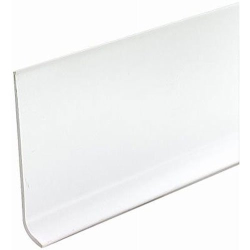 MD Building Products 75507 Vinyl Wall Base Bulk Roll, 4 Inch-by-120-Feet, Snow ()