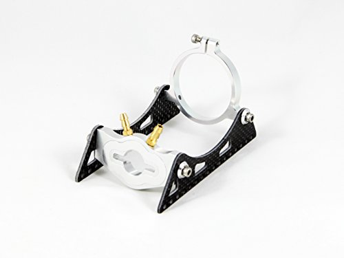 ALIENTAC Carbon Fiber Water Cooling Motor Mount with Clamp for 40mm Motor R/C Boat