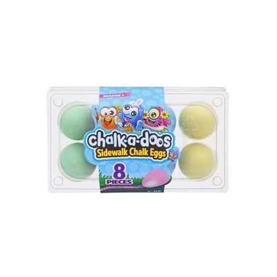 Scentos Chalk-A-Doos Sidewalk Chalk Eggs in Carton 8 Pieces Season 1: Office Products
