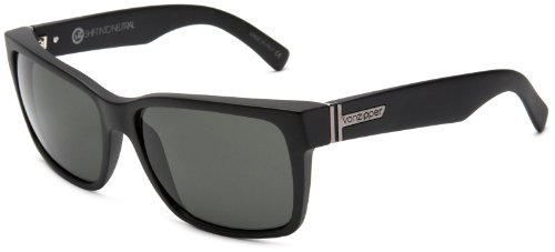 VonZipper Elmore Shift Into Neutral Square Sunglasses,S.I.N. & Black Satin,One - Shades Zipper Von