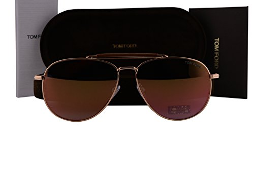 Tom Ford FT0536 Sean Sunglasses Metal Rose Gold w/Pink Mirror Lens 28Z - Sunglasses Sean