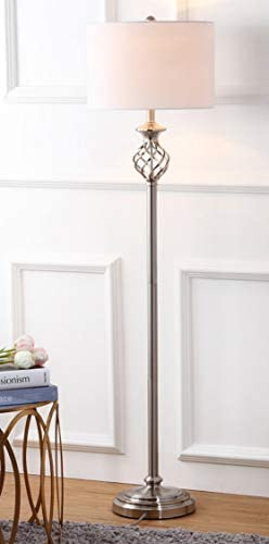 Safavieh Lighting Collection Sophia Nickel 59.75-inch Floor Lamp