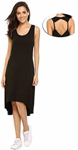 Zeagoo womens short sleeve mesh patchwork see through sexy club black dress