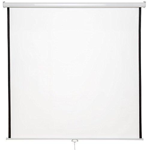 TecTake Pantalla para proyector 16:9 4:3 HD desplegable - Varios Modelos - (203x203cm | 110