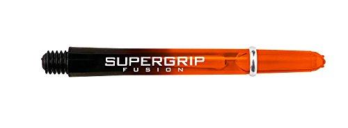 10 x Sets Harrows Nylon Dart Stems Supergrip Fusion Black Orange Short by PerfectDarts