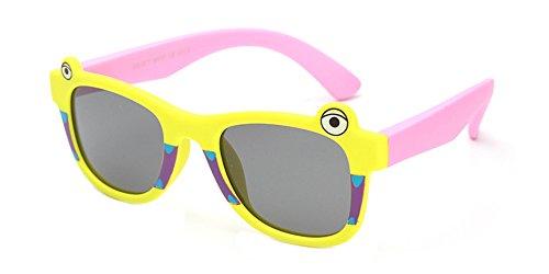XFentech Gel de silice Matériel Frame UV400 Cartoon Lunettes de soleil pour Enfants Style 03