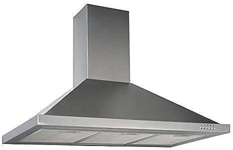 respekta CH22068IXB - Campana para chimenea (acero inoxidable, 90 cm): Amazon.es: Grandes electrodomésticos