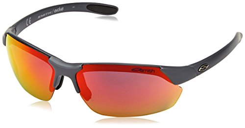 Smith Optics Parallel Max Sunglasses, Matte Cement Frame, Red Sol-X/Ignitor/Clear - Max Optics Smith Parallel