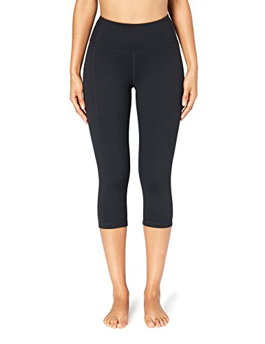 Amazon Brand - Core 10 Women's 'Build Your Own' Yoga Pant - High Waist Capri Legging, XL, Black (Best Core Exercises For Women)