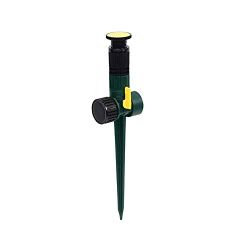 ble Lawn Sprinkler on a Spike with Integrated Flow-Control, Waters Up to 30 ft. Diameter, Adjustable Spray Angle,Direction and Length (4 Pack) ()