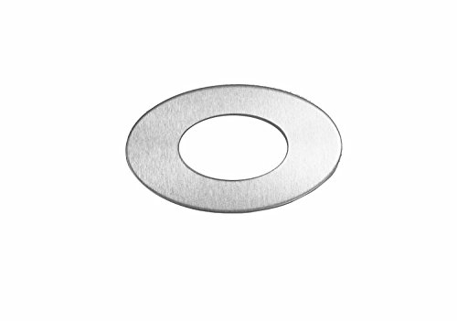 RMP Stamping Blank, 1.829 Inch Oval Washer with 0.921 Inch Center, Aluminum 0.032 Inch (20 Ga.) -50 - Washer Stamping
