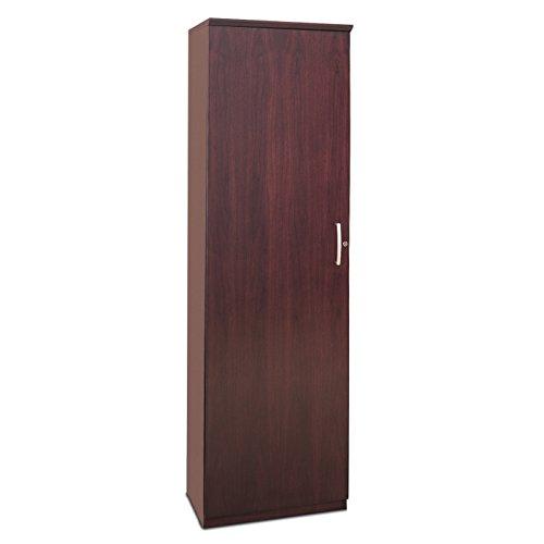 Mayline Veneer Wardrobe Cabinet With Reversible Door Cherry Finish - Mayline Wardrobe Cabinet