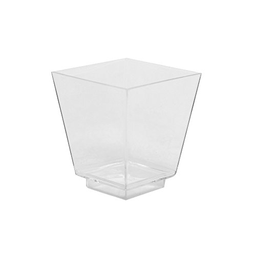 480-Units 2oz Square Plastic Dessert Cups Clear Ideal for Parties by Arant