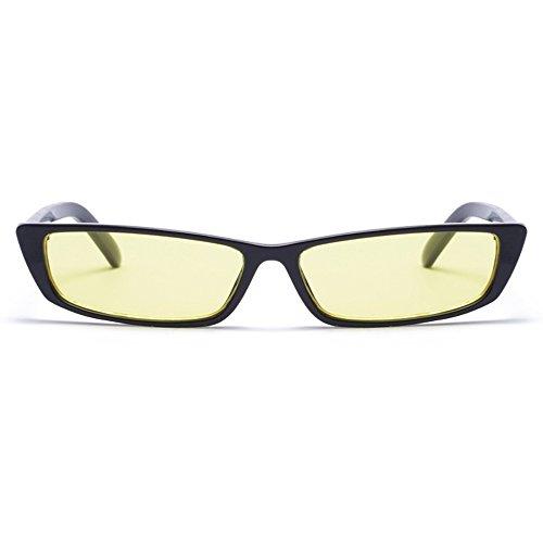 Gobiger Rectangle Small Frame Sunglasses Fashion Designer Square Shades for Women (Black Frame, - Designer Sunglasse