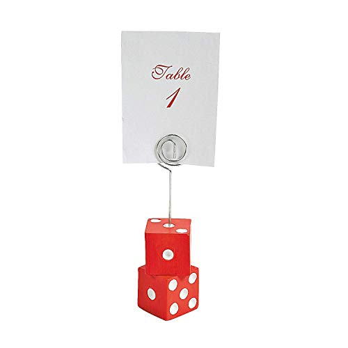 Casino Night Bunco Place Card Holders/Appetizer Identifiers - 12 pc (Place Boxes Holders Favor Card)