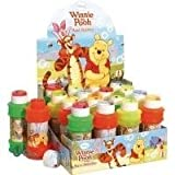 Pack Of 6 - Winnie The Pooh Maxi Bubbles 175ml Tub - Party Bag Toys - Party Prizes