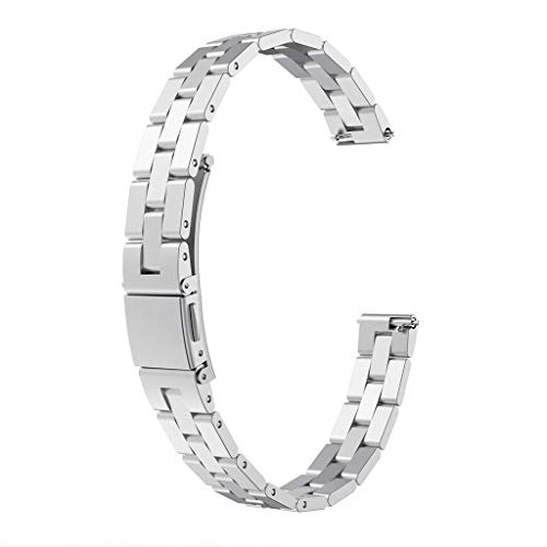 Clearance Sale!DEESEE(TM)LuxuryStainless Steel Strap Wrist Watch Band Bracelet Replacement for Fitbit Inspire/Inspire HR (Silver)