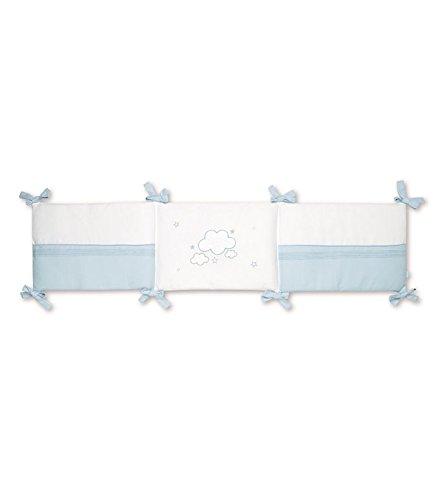 pirulos 43013013–Nestchen, Baumwolle, 38x 178x 3cm, weiß und blau