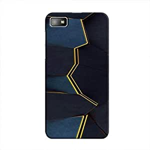 Cover It Up - Gilded Blue Fractures BlackBerry Z10 Hard Case