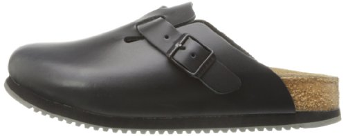 Birkenstock Unisex Boston Professional Black Leather Work Shoe 42 (US Women's 11-11.5)